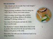Tips เล็กๆ ของการกินอย่างมีสติ